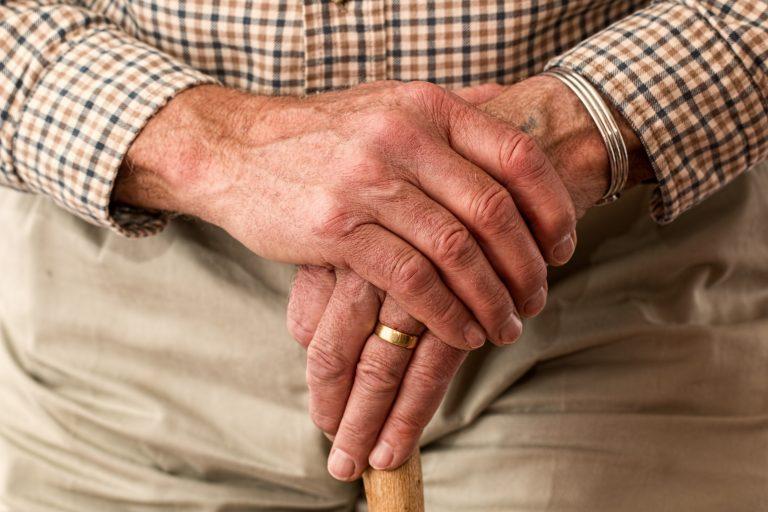 hands of an elderly gentleman